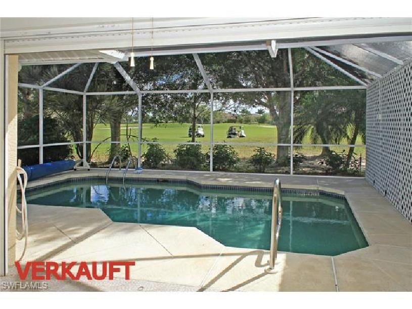 Florida Naples Palomino Dr Golf Haushälfte mit Golfplatzblick und Pool - 01