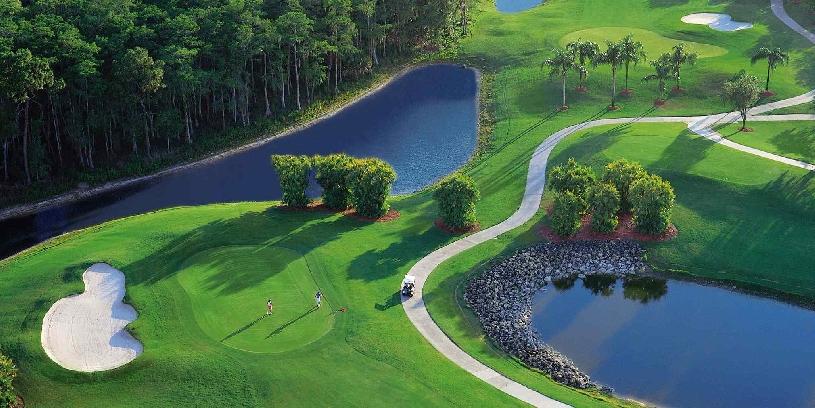 Florida Naples Palomino Dr Golf Haushälfte mit Golfplatzblick und Pool - 12