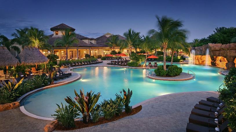 Florida Naples Palomino Dr Golf Haushälfte mit Golfplatzblick und Pool - 13