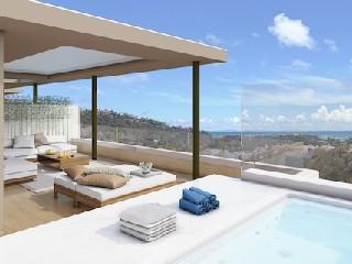 Spanien, Costa del Sol, Luxusapartments am Golfplatz