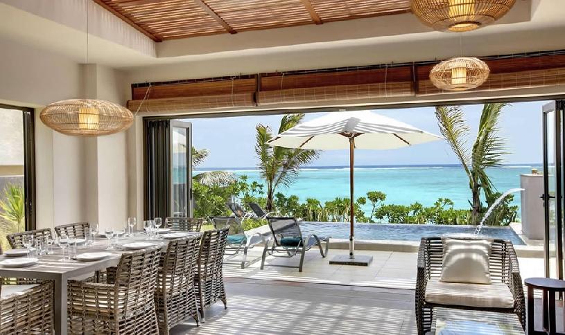 Mauritius Ile aux Cerf Golf Beachfront Pool Villa 3SZ  - 01