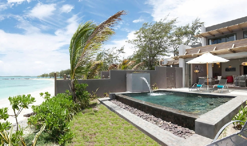 Mauritius Ile aux Cerf Golf Beachfront Pool Villa 3SZ  - 02