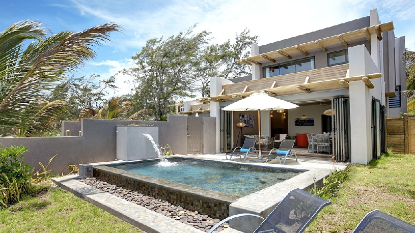 Mauritius Ile aux Cerf Golf Beachfront Pool Villa 3SZ  - 04